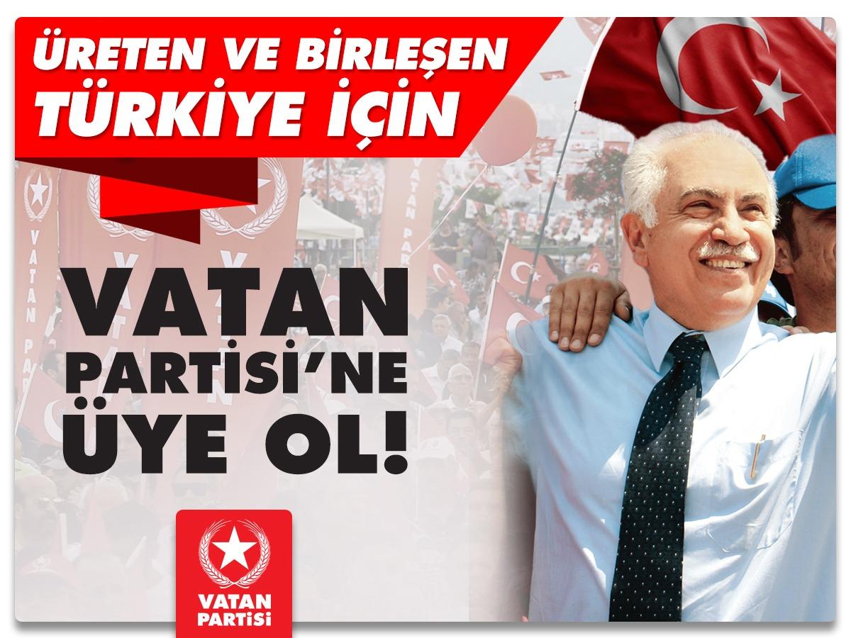 Üreten ve birleşen bir Türkiye için vatan partisine üye ol