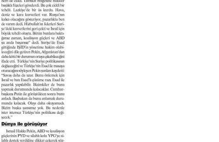1 Ekim 2015 Yeniçağ Gazetesi