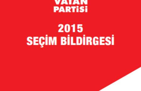 7 Haziran 2015 Seçim Bildirgesi