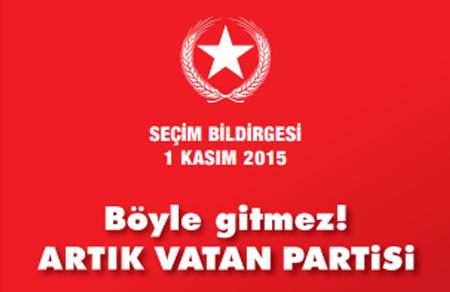 1 Kasım 2015 Seçim Bildirgesi