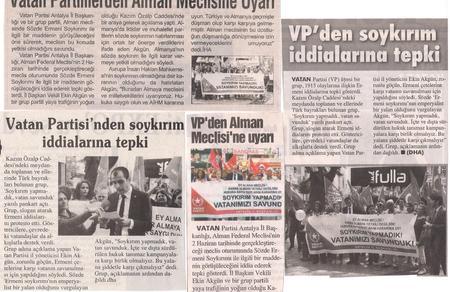 Basında Vatan Partisi Antalya
