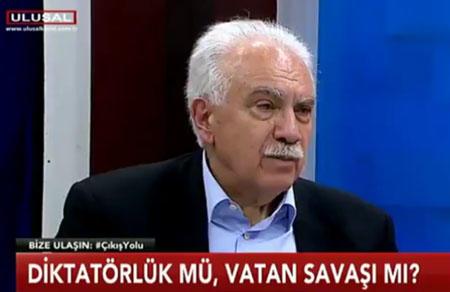 """Doğu Perinçek: """"Hayır çıkarsa Türkiye de Erdoğan da kazanacak"""""""