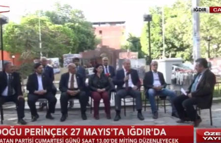 Iğdır İl Genel Meclisi adaylarımız Ulusal Kanal'a konuk oldu