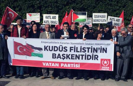 """""""Yaşasın ve varolsun Özgür Kudüs, Özgür Filistin!"""""""