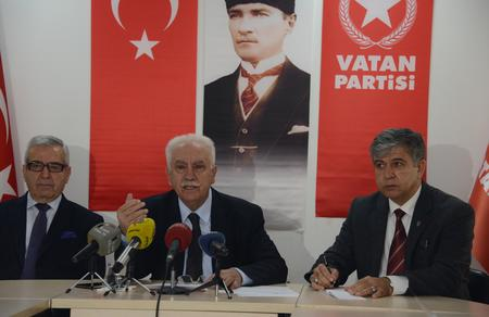The Chairman of Vatan Partisi (Patriotic Party), Dr. (Ph.D.in Law) Doğu Perinçek