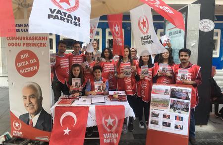 İzmir 100 bin imza için seferber oldu
