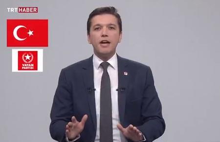 Vatan Partisi adına TRT konuşmasını gençlik lideri Cem Dikmen yaptı