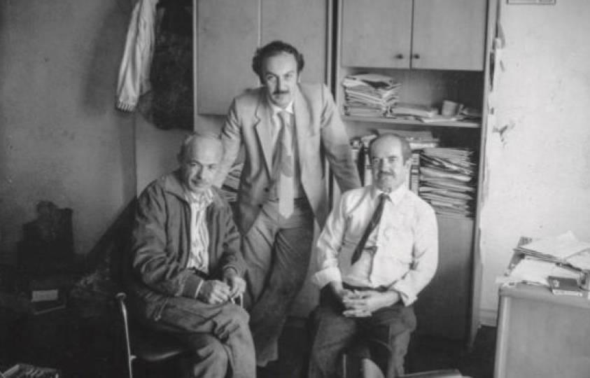 Kemaliye'nin efsane fotoğraf sanatçıları: Sıtkı Fırat, Lütfi Özgünaydın ve Yusuf Ziya Ademhan.