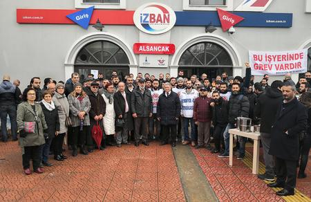 İzmir İl Başkanlığımızdan İZBAN işçisine samimi ziyaret