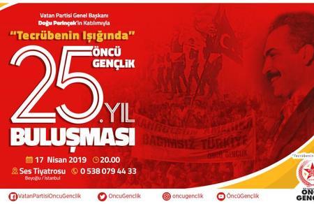 Vatan Partisi Öncü Gençlik 25. yılını kutlayacak