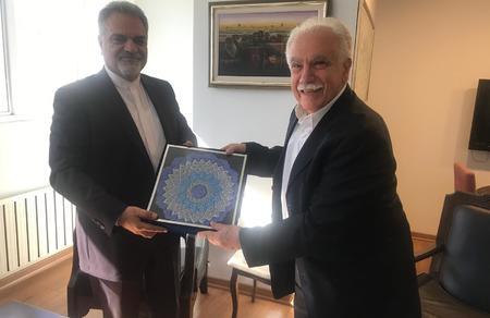 İran'ın Ankara Büyükelçisi Farazmand'dan Vatan Partisi'ne nezaket ziyareti