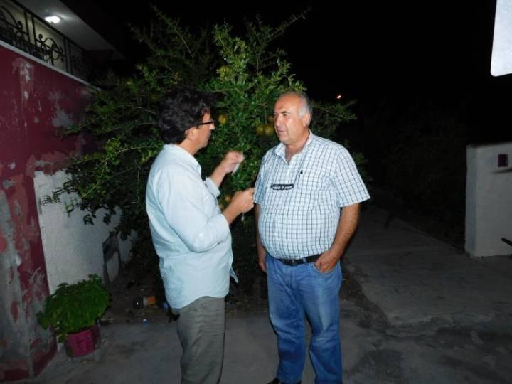 Suvarlı Adayımız Gazi Sabancı (Sağda)- Ulusal Kanal Muhabiri Ekrem Demir