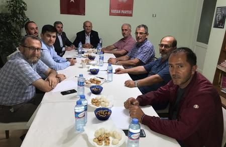 Düzce Siyasi Parti İl Başkanları Aylık Toplantısını gerçekleştirdi