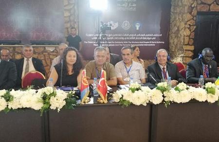 Vatan heyeti, emperyalizme karşı cephe için Suriye'de
