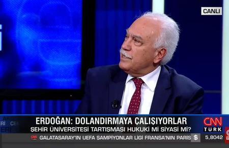 Doğu Perinçek, CNN Türk canlı yayınına konuk oldu
