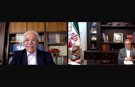 Doğu Perinçek, İran Büyükelçisi Muhammed Farazmand'la görüştü