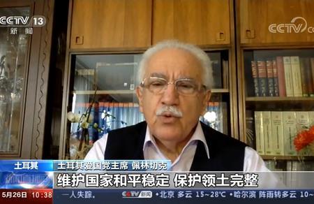 Doğu Perinçek'in Hong Kong değerlendirmesi Çin Devlet Televizyonunda