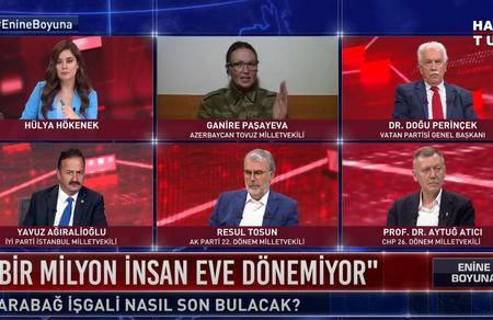 Paşayeva Perinçek'in Soykırım yalanına karşı zaferini övdü