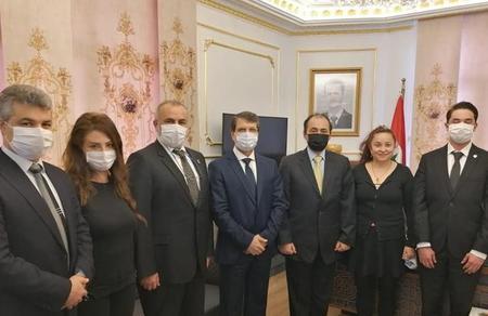 Parti heyetimizden Suriye'ye taziye ziyareti