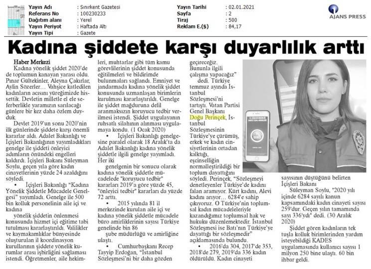 210102 Sınırkent Gazetesi - Kırklareli