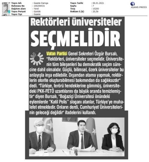 210106 Gazete Damga - İstanbul