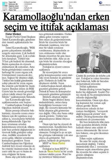 210114 Kırklareli Gazetesi