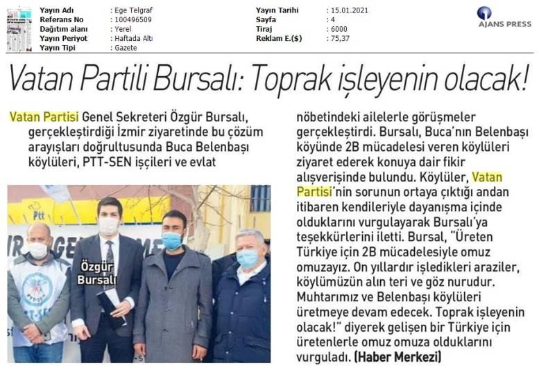 210115 Ege Telgraf - İzmir