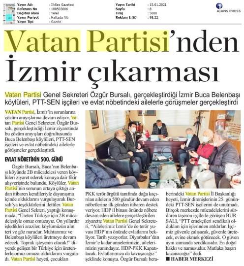 210115 İlk Ses Gazetesi - İzmir