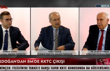 Doğu Perinçek: Cumhurbaşkanı BM gündemine KKTC'nin tanınması konusunu getirmeli